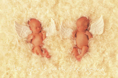 Print featuring the photograph Be Gentle With The Young by Anne Geddes