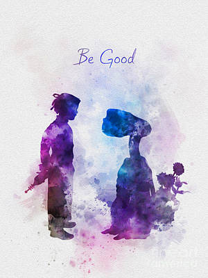 Be Good Art Print by Rebecca Jenkins