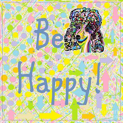 Whimsical Digital Art - Be Happy by Eloise Schneider