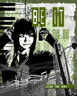Female Digital Art - Be It - Green by Melissa Smith