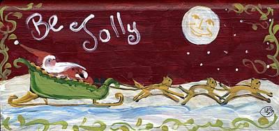 Be Jolly Kitties Art Print by Sylvia Pimental