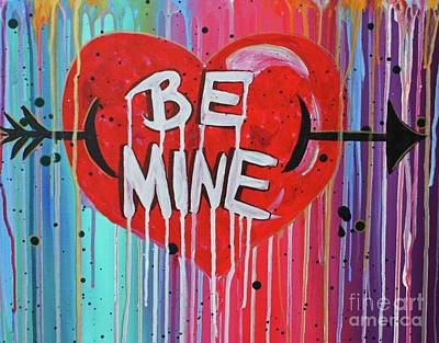 Abstract Purse Painting - Be Mine by Jenny Kimble
