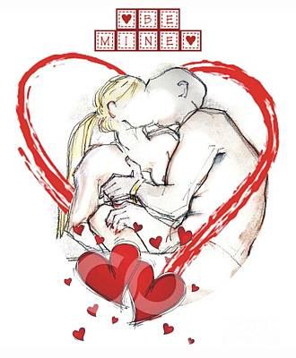 Digital Art - Be Mine, Valentine - Valentine's Day by Carolyn Weltman