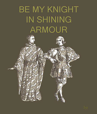 Mixed Media - Be My Knight In Shining Armour Two Men by Eric Kempson