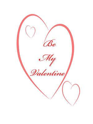 Digital Art - Be My Valentine by Judy Hall-Folde
