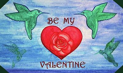 Mixed Media - Be My Valentine by Mary Ellen Frazee