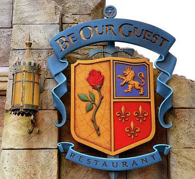 Family Crest Photograph - Be Our Guest Sign 2014 by David Lee Thompson