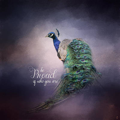 Photograph - Be Proud - Peacock Art by Jai Johnson
