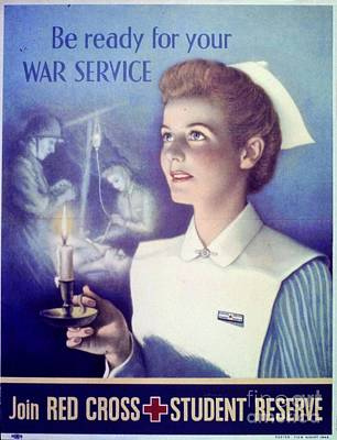 Painting - Be Ready For Your War Service Join Red Cross Student Reserve by R Muirhead Art