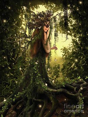 Tree Roots Digital Art - Be Seduced By Magic Tree by Babette van den Berg