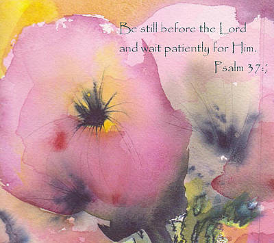 Painting - Be Still Before The Lord by Anne Duke