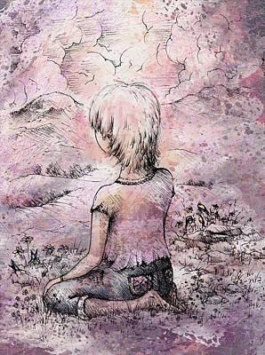 Stillness Drawing - Be Still by Rachel Christine Nowicki
