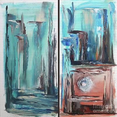 Mystic Desert Painting - Be Still by Tracy Ann Delfar