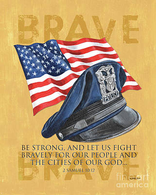 Strong America Painting - Be Strong by Debbie DeWitt
