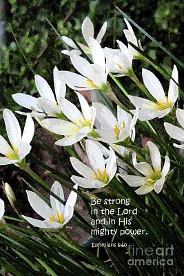 Painting - Be Strong In The Lord by Hazel Holland