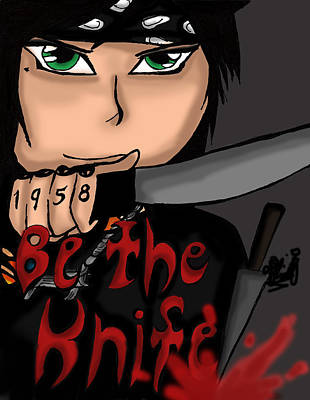 Be The Knife Art Print