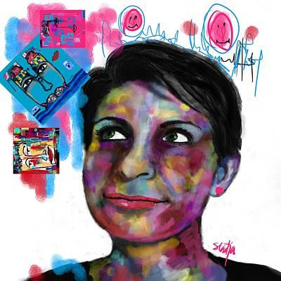 Digital Art - Be The Rainbow  by Sladjana Lazarevic