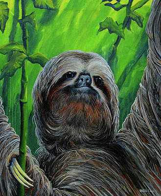 Painting - Be The Sloth  by Michael Cranford