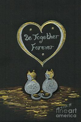 Drawing - Be Together Forever  by Teresa White