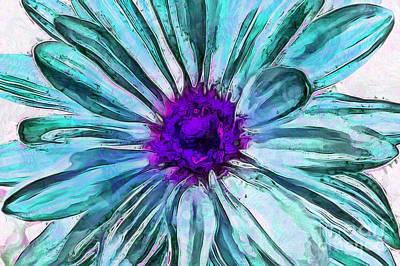 Blue Flowers Photograph - Be Unique by Krissy Katsimbras
