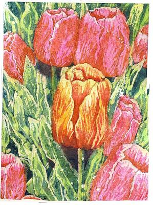 Spring Bulbs Painting - Be Unique/ Pink by Annette McGuire