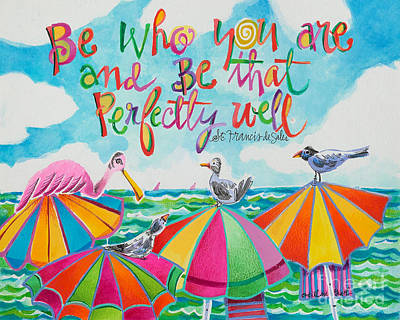 Painting - Be Who You Are - Mmbwu by Br Mickey McGrath OSFS