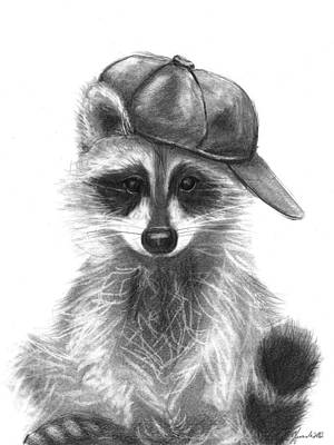 Raccoon Drawing - Be You by J Ferwerda