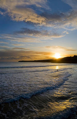 Beach & Great Newtown Head, Tramore Art Print by Panoramic Images
