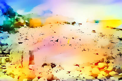 Abstract Beach Landscape Photograph - Beach Abstract by Tom Gowanlock