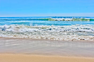 Photograph - Beach And Ocean Waves by Colleen Kammerer