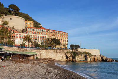 Photograph - Beach And Sea In City Of Nice In France by Artur Bogacki