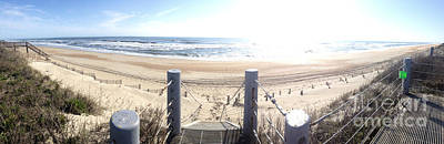 Jason Day Photograph - Beach And Stairs - Panoramic by Jason Freedman