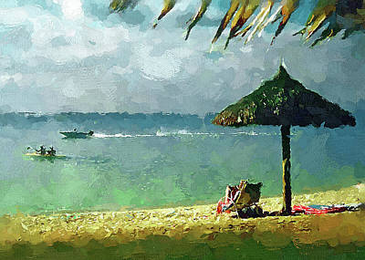 Digital Art - Beach And Sun by Yury Malkov