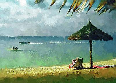 Digital Art - Beach And Sun by Yury Malkov