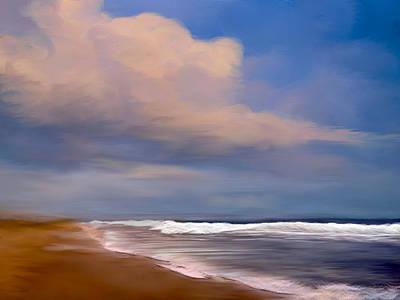 Beach Digital Art - Beach And Whitecaps by Anthony Fishburne