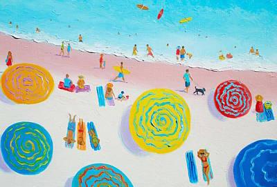 Painting - Beach Art - Beach Sport by Jan Matson