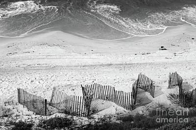 Panama City Beach Photograph - Beach Art Black And White by Karen Adams