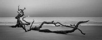 Jekyll Island Photograph - Beach Art Cropped In Black An White by Greg Mimbs