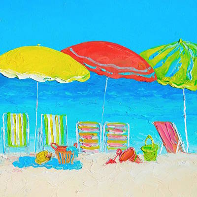 The Who - Beach Art - Summer Days are here again by Jan Matson