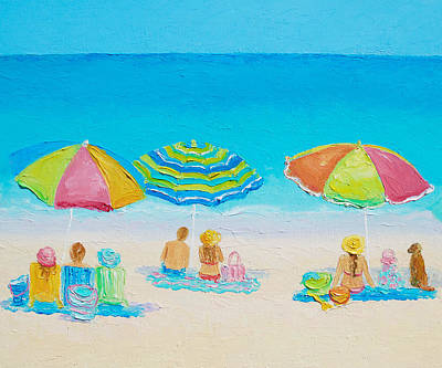 San Diego Beach Painting - Beach Art - Summer Paradise by Jan Matson