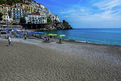 Photograph - Beach At Amalfi by Marilyn Burton