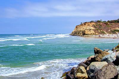Beach At Del Mar, California Art Print