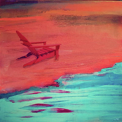 Painting - Beach At Night by Amy Shaw