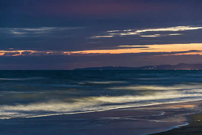 Photograph - Beach At Night - Spiaggia Di Notte by Enrico Pelos