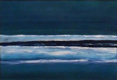 Painting - Beach At Night by Stella Arden