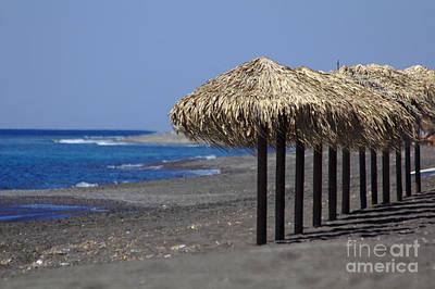 Photograph - Beach At Perivolos by Jeremy Hayden
