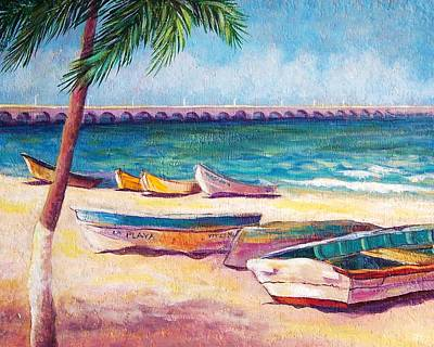 Music Figurative Potraits - Beach at Progreso by Candy Mayer