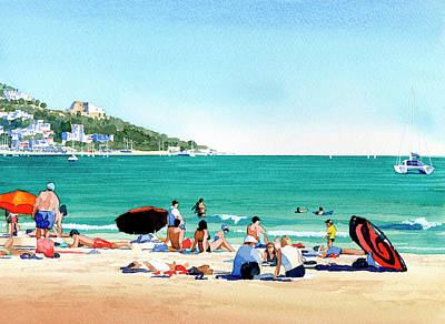 Beach At Roses, Spain Art Print