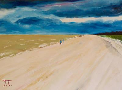 Punta Gorda Painting - Beach At Sanibel by Troy Thomas