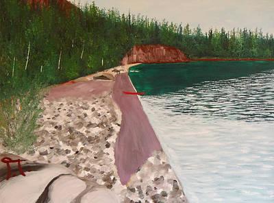 Split Rock Lighthouse Painting - Beach At Split Rock by Troy Thomas